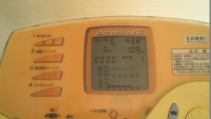 消費カロリー49.8kcal/走行距離10.9km